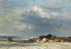 E. Seago, oil - The River Orwell near Shotley Point, Suffolk
