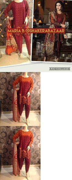 Salwar Kameez 155249: Pakistani Designer Maria B Chiffon Shalwar Kameez 3Pc Readymade Small 36 -> BUY IT NOW ONLY: $74.99 on eBay!