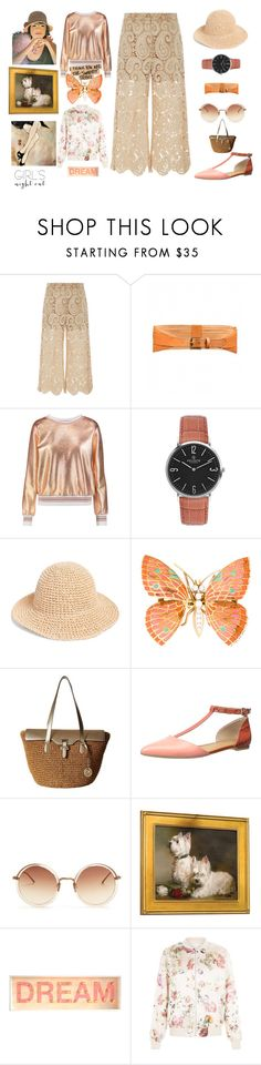"""""""gentle but strong"""" by peeweevaaz ❤ liked on Polyvore featuring self-portrait, Raoul, RHYTHM, MICHAEL Michael Kors, Linda Farrow, Buccellati, New Look and girlsnightout"""