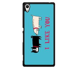 I Like You Dogs TATUM-5465 Sony Phonecase Cover For Xperia Z1, Xperia Z2, Xperia Z3, Xperia Z4, Xperia Z5