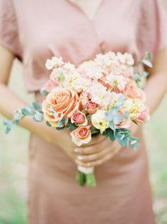 Blush beauty: http://www.stylemepretty.com/2015/03/30/whimsical-pine-grove-wedding/ | Photography: Josh Gooden - http://www.joshgooden.com/