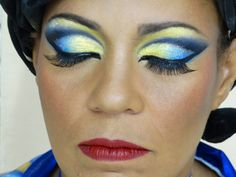 Maquiagem da Porta Bandeira da Unidos da Tijuca - Carnaval Rio 2014