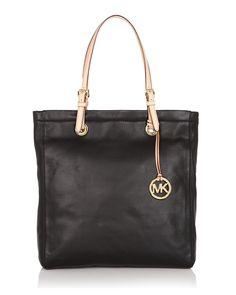 8475a71aac Michael Kors Jet Set Leather Tote $228 Michael Kors Bag, Tote Handbags,  Trendy Style
