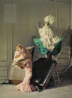Christian Dior Spring 2003 Haute Couture    Lady GreyMagazine: Vogue Italia March 2010  Photographer: Tim Walker Models: Imogen Morris-Clarke, Stella Tennant