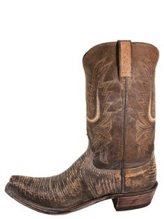 1bc7f5d444e Lucchese Mens Old Nugget Lizard Boots - Brown - - D, 1883 by Lucchese Mens  Old Nugget Lizard Boots. Lucchese Old Nugget Lizard is handcrafted in El  Paso, ...