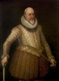 """""""Sir George Carew, Baron Carew of Clopton, Earl of Totnes, First High Steward of Stratford-upon-Avon"""", attr. Marcus Gheeraerts the younger, ca. 1625; Shakespeare Birthplace Trust SBT 1993-31/337"""