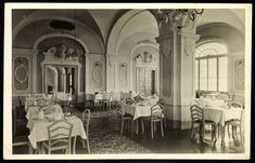 A Korona szálló fehér étterme, a mai Park Hotel EGER