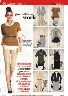 Lucky Magazine 90 days of Style Outfits 1 - 9