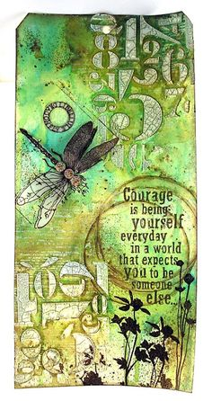 Spring Inspired by Suzanne Czosek - Courage tag