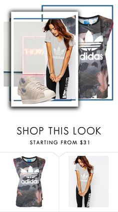 """Untitled #3429"" by mariaisabel701 ❤ liked on Polyvore featuring adidas"