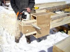 Of course the first thing you need is logs. A good source may be someone who has a portable sawmill in your area. Contact woodmizer sawmills to get a list. How To Build A Log Cabin, Small Log Cabin, Log Cabin Kits, Log Cabin Homes, Log Cabins, Cheap Tiny House, Dovetail Jig, Timber Cabin, Log Home Interiors