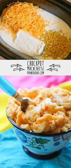 Crockpot Mac and Cheese - Throw a few ingredients into your crockpot and dinner is DONE!