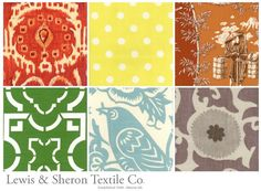 Lewis and Sheron Textile Co. Fabric Patterns