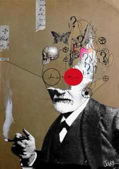 """freudian slip,"" original surrealist drawing by artist Loui Jover (Australia) available at Saatchi Art Art Inspo, Kunst Inspo, Inspiration Art, Collage Sculpture, Art Du Collage, Painting Collage, Art And Illustration, Street Art, Art Graphique"