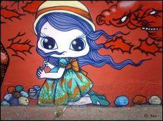 Nina Pandolfo, street art, Brazil