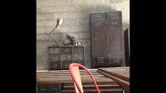 Ambiance atelier garage Usine loft vestiaire clapets jielde tolix  ldt l'or du temps