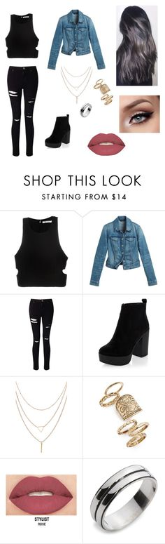 """""""Untitled #149"""" by rebeccaball37 on Polyvore featuring T By Alexander Wang, White House Black Market, Miss Selfridge, New Look, Topshop and Smashbox"""