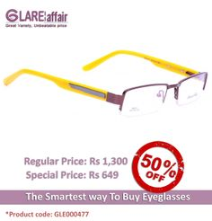 EDWARD BLAZE EBPR2011 BROWN YELLOW EYEGLASSES  http://www.glareaffair.com/eyeglasses/edward-blaze-ebpr2011-brown-yellow-eyeglasses.html  Brand : Edward Blaze  Regular Price: Rs1,300 Special Price: Rs649  Discount : Rs651 (50%)