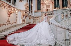 This statement-making voluminous ball gown from Malyarova Olga is absolutely gorgeous! White Wedding Gowns, Beautiful Wedding Gowns, Bridal Wedding Dresses, Wedding Attire, Bridesmaid Dresses, Wedding Looks, Dream Dress, Nice Dresses, Marie