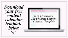 The Ultimate Content Calendar (Lead Magnet Demo)