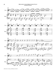 Because I Have Been Given Much Sheet Music For Piano And Viola 04