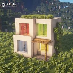 Minecraft Modern House Designs, Cute Minecraft Houses, Minecraft Interior Design, Minecraft House Tutorials, Minecraft Plans, Minecraft Room, Minecraft Houses Blueprints, Amazing Minecraft, Minecraft Architecture