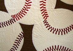 Learn how to make your own baseball quilt at MattandShari.com. Check this link http://www.mattandshari.com/quilting/sewing-a-baseball-quilt-new.html.