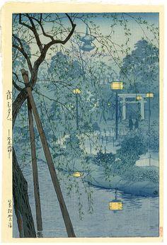 justcallmegrace:    Misty Evening at Shinobazu Pond, Tokyo  Shiro Kasamatsu