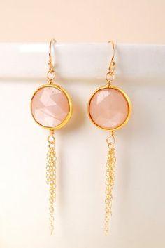 har021e unique handmade designer artisan moonstone bezel tassel dangle earrings for women