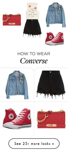 """""""Untitled #1898"""" by leonorbilton on Polyvore featuring High Heels Suicide, Converse, Ksubi and Moschino"""