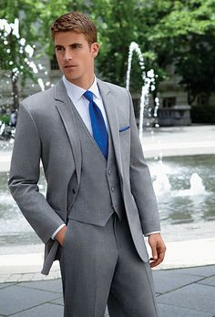 An on-trend look in formal wear, the Grey Savoy Tuxedo is a perfect choice for the modern groom. The sharp clean lines of the slim fit Grey Savoy jacket give it...