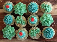 diy succulents fondant - Pesquisa Google