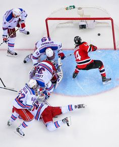New Jersey Devils vs. New York Rangers Game 6 of the 2012 Stanley Cup Eastern Conference Finals. I love seeing this from every angle.