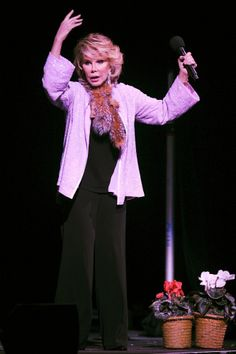 HOLLYWOOD, FL - MARCH 02:  Comedian Joan Rivers performs at the Hard Rock Live at the Seminole Hard Rock Hotel and Casino on March 2, 2008 in Hollywood, Florida.  (Photo by Larry Marano/Getty Images)                                     via @AOL_Lifestyle Read more: http://www.aol.com/article/2016/02/26/joan-rivers-manager-breaks-silence-on-her-death/21319277/?a_dgi=aolshare_pinterest#slide=2903576|fullscreen