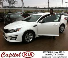 Thank you to Lisa  Carter on your new 2014 #Kia #Optima from Ashley  Adams  and everyone at Capitol Kia! #NewCar