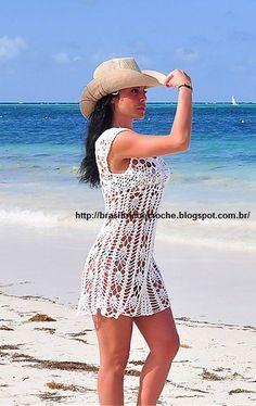 Brasil Tricô & Crochê   -    Handmade: Vestido praia Rossane