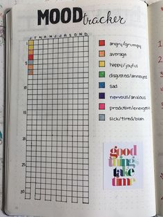 Image result for bullet journal mood tracker
