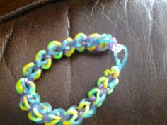 I made it myself rainbow loom invented Rainbow Loom, Inventions, Awesome, Bracelets, How To Make, Jewelry, Fashion, Bangles, Moda