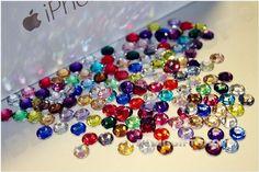 MajorCrafts® 1500pcs 2mm Neon Yellow AB Flat Back Half Round Resin Pearls C06