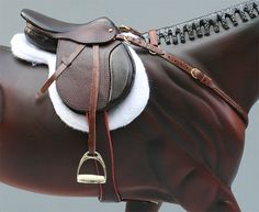 Strapless with detailed english saddle
