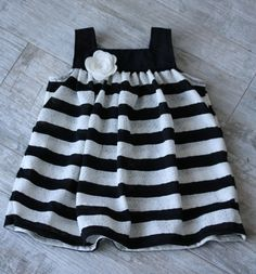 Hey, I found this really awesome Etsy listing at http://www.etsy.com/listing/153906838/baby-girl-dress-black-white-stripes