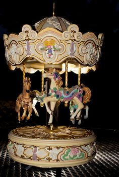 Music box carousel - I will start turning by myself  and playing a creepy tune in the middle of the night.....