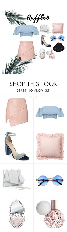 """""""Untitled #10"""" by saulutee ❤ liked on Polyvore featuring Michelle Mason, GUESS, Pottery Barn, Coast and Too Faced Cosmetics"""