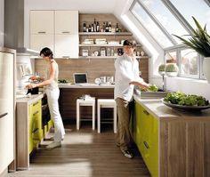 Cocinas con zona de estudio integrada