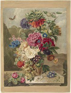 Bloemstuk, Anthonie van den Bos, 1778 - 1838