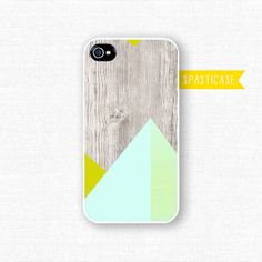 iPhone 4 Case Geometric iPhone 4S Case Wood Print by SpastiCase, $19.00