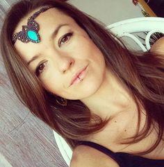 Macrame tiara macrame headband macrame necklace. by QuetzArt