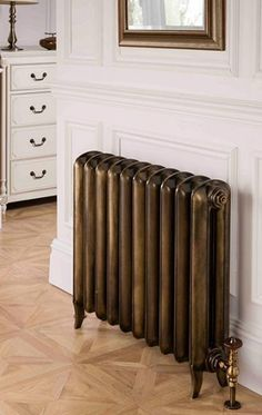 """New"" old style radiators - Linton Cast Iron, available in a wide range of special finishes - The Radiator Company - The UKs largest selection of designer radiators. Victorian Radiators, Old Radiators, Column Radiators, Cast Iron Radiators, Painting Radiators, Home Interior Design, Interior And Exterior, Painted Radiator, Victorian"