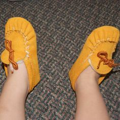 Baby & Toddler Fleece Lined Genuine Suede Moccasin House Shoes - 158