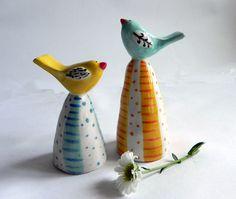 Bird Ornaments by joyelizabethceramics on Etsy
